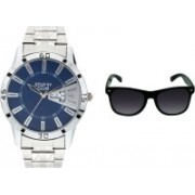 stuffy club Wrap-around Sunglass, Analog Watch Combo(Multicolor)