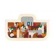 Hape George Luck Noah's Ark Wood Puzzle (62 Piece)