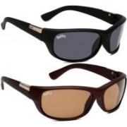 Backley Sports, Sports Sunglasses(Black, Brown)
