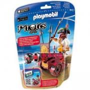 Комплект Плеймобил 6163 - Пират с червено оръдие - Playmobil, 291263