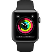 Apple Watch Series 3 GPS, 38mm Space Grey Aluminium Case with Black Sport Band