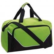 Merkloos Sporttas/reistas lime groen/zwart 29 liter