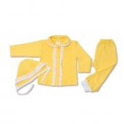 Costumas galben cu dantela