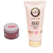 Vozwa Maroon Shimmer Powder with BB Cream (SPF-20)-(MaroonShimmerBBCreamWhite)