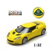MSZ Vroom Tech Scale 1:32 Lotus Evora S Friction Die Cast Car with Lights and Sound (Yellow)