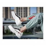 Calzado estudiantil casual para hombre zapatos blanco y negro