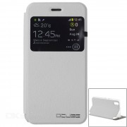 Caso de la cubierta protectora de la PU OCUBE w / Stand para Ulefone Paris - Blanco
