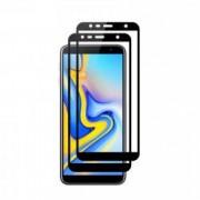 Set 2 folii protectie sticla securizata fullsize pentru Samsung Galaxy J6 2018 negru