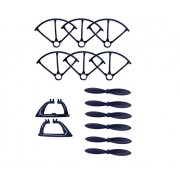 Generic Black : MJX X800 2.4G 6 axis R/C Quadcopter /RC drone parts Blade Protecting Frame +main blades+landing gears free shipping