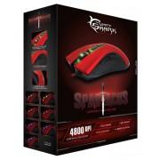 Mouse Gaming USB 4800dpi 7 Tasti Rosso Spartacus GM-1601R