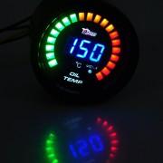 Racetech LED tuning budík do auta pre meranie teploty oleja + voltmeter