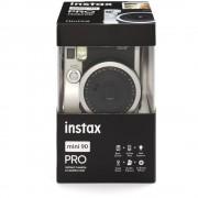 Fujifilm Instax Mini 90 Neo Classic Aparat Foto Instant Kit cu Husa si Film 10 Buc Negru