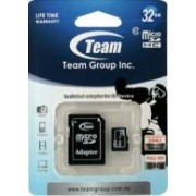 Card de Memorie Team Group microSDHC 32GB Clasa 4 + Adaptor SD