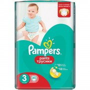 Scutece Active Baby Pants 3 Pampers, 6-11 kg, 60 buc