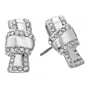Kate Spade New York All Tied Up Pave Knot Stud Earrings ClearSilver