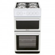 Hotpoint HAG51P Gas Cooker Separate Grill - White