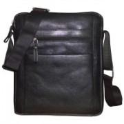 Kan Genuine Leather Cross Body Bag/Travel Pouch/Sling Bag for Men & Women 7 L Backpack(Black)