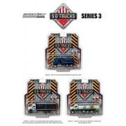 2017 International Workstar Construction Dump Truck Blue S.D. Trucks Series 3 1-64 Diecast Model by Greenlight