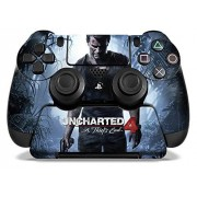 """Controller Gear Uncharted 4: A Thief's End Officially Licensed PS4 Controller and Controller Stand Skin Set """"A Thief's End"""