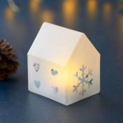 Santa House LED decorative light, 8.5 cm high