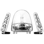 Harman/Kardon Soundsticks Sistema Altoparlante Suono Desktop a LED, Bluetooth/Wireless, con Altoparlanti Satellite Doppi e Subwoofer, Compatibile con Dispositivi Apple iOS/Android e Windows, Tras...