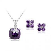 Set bijuterii Exquisite Purple Stone