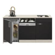 Keuken Kitchenette Faro Antraciet met koelkast en vaatwasser 150cm HRG-5395