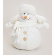 Decoratie sneeuwpop met bontmuts