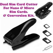 Gadget Hero's Dual Sim Card Cutter Adapter Kit For Nano Micro Sim Cards