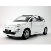2010 Fiat 500C (Fiat 500) 1/32 Scale Diecast Metal Model - WHITE