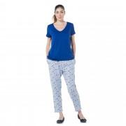 Carole Hochman Completo relax: maglia scollo a V e pantaloni fantasia