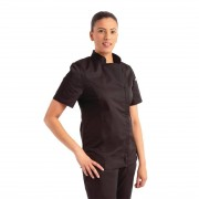 Chef Works Urban Chef Works Womens Springfield Zip Chefs Jacket Black M Size: M