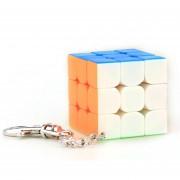 40mm 3x3x3 Cubo Mágico Con Llavero Cubing Aula -Vistoso