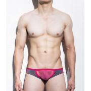 Mategear Eoh Jae Reduced Sides Mesh Extremely Sexy Mini Bulge Squarecut Bikini Underwear Grey/Pink 1111203