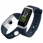 Y7 0.96 inch Color Screen IP68 Waterproof Smart Wristband Support Heart Rate Monitoring - Blue
