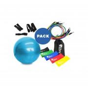 Pelota Pilates 75 Cm + Pack Loops + Kit 11 Piezas