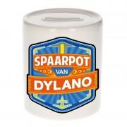 Bellatio Decorations Kinder cadeau spaarpot voor een Dylano