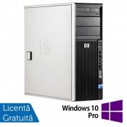 WorkStation HP Z400, Intel Xeon Quad Core W3520 2.66GHz-2.93GHz, 12GB DDR3, 1TB SATA, Placa Video AMD Radeon R5 340, 4GB GDDR5 128-Bit, DVD-RW + Windows 10 Pro