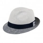 ALFONSO D`ESTE ALFONSO D'ESTE cappello trilby bicolore in puro lino