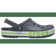 Crocs Charcoal / Volt Green Bayaband Clog Shoes