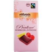 Ciocolata bio Praline cu umplutura, aroma zmeura - lamaie
