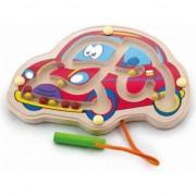 Labirint magnetic cu bile Masina, Viga Toys, multicolor