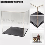 Tingacraft 11.8 Inches Cube Acrylic Display Case/Box Perspex Dustproof Show Case For Football Basketball Boxing Gloves 1:6 Figures