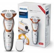 Afeitadora eléctrica recargable en húmedo y seco de Philips Star Wars edición SW5700 con recortador de precisión de clic inteligente para el cuidado de los hombres(Plata)