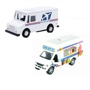 Usps Mail Truck With Ice Cream Vending Truck (2 Trucks (Usps Ice Cream))