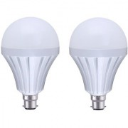 MTC 9W Led Intelligent/Inverter/Rechargeable Bulb With Power Back-up Emergency Lights -Pack Of 2