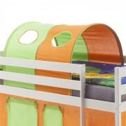 IDIMEX Tunnel MAX pour lit surélevé, vert-orange