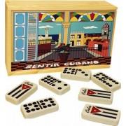 Cuban Style Flag Double Nine Domino Set