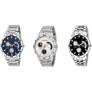 R P S fashion new looked letest model combo pack of 3 men watch