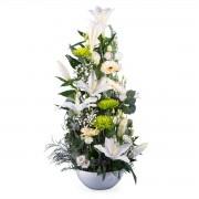 Interflora Centro Natalicio Vertical - Flores a Domicilio